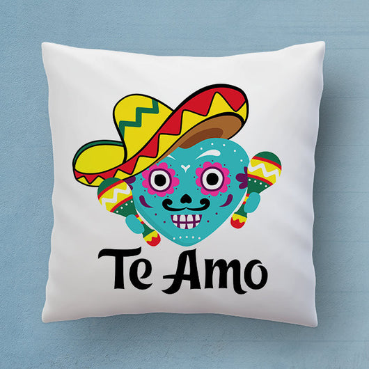 Te Amo Pillow - Say I Love You In Spanish - Cute Mexican Decorative Pillow 18x18 inches