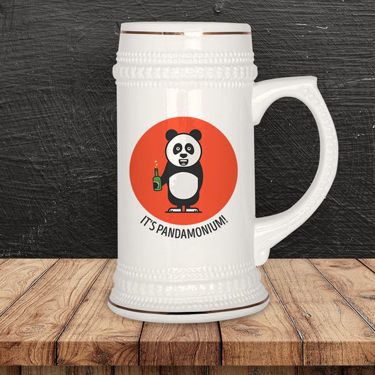 Free Worldwide Shipping - It's Pandamonium Beer Stein  [Gift Idea - Makes A Fun Present]