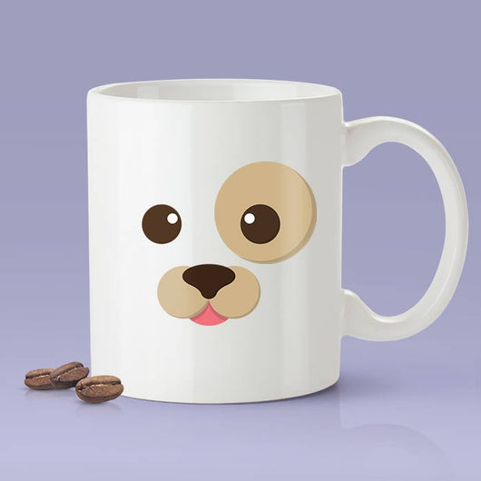 Dog Face Funny Coffee Mug - Dog Lover Cute Face [Gift Idea - Makes A Fun Present]