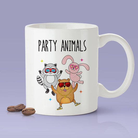 Party Animals Gopher / Bunny / Raccoon  - Funny Dancing Animals Mug [Gift Idea - Makes A Fun Present]