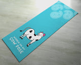 Free Shipping Worldwide - Working On My Cow Pose - Practice Yoga In Style [Gift Idea / Fun Present] Exercise Mat / Bitilasana