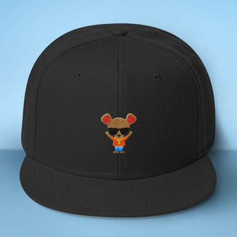 Gangster Mouse Baseball Hat - Makes A Fun Present] Cute Mouse Black Cap - Thug Out In Style