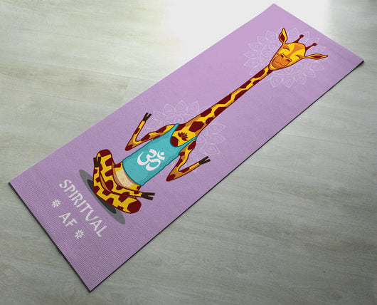 Cool Yoga mats - Spiritual As Fuck - [Gift Idea / Fun Present] - Long Yoga Mat