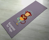 Free Shipping Worldwide - Bananas For Yoga - Cute Monkey Yoga Mat -  [Gift Idea / Fun Present] Exercise Mat / Monkey Gift / Purple Yoga Mat