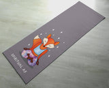 Spiritual AF Orange & Purple Fox Yoga Mat -  [Gift Idea / Fun Present] Exercise Mat / Cute Animal Yoga Mat
