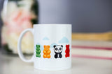 Cute Gummi Bear Panda Mug [Gift Idea - Makes A Fun Present] [Panda Lovers Unite!]
