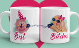 Free Shipping Worldwide - Set of Best Bitches Coffee Mug - Dog Coffee Mugs [Gift Idea For Her - Makes A Fun Present For Your Best Friend]