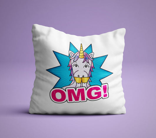 Cute Unicorn Pillow - The Perfect Bedroom Pillow For Unicorn Lovers - Cute Decorative Pillow 18x18 inches
