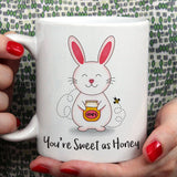 Free Shipping Worldwide - Sweet As Honey - Bunny  Love Mug [Gift Idea - Makes A Fun Present] [For Him / For Her] Cute Bunny Mug