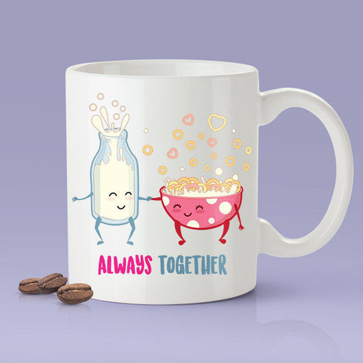 Milk & Cereal Love Mug - Always Together [Gift Idea - Makes A Fun Present] [For Him / For Her] Cute Cereal Mug
