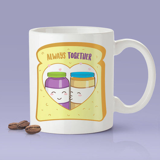 Free Shipping Worldwide - Peanut Butter & Jelly Love Mug - Say I Love You With PB and J - Cute Coffee Mug [Gift For Him / Gift For Her]