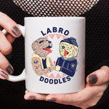 Labro Doodles [Gift Idea - Makes A Fun Present] [For Him / For Her] Cute Dog Coffee Mug