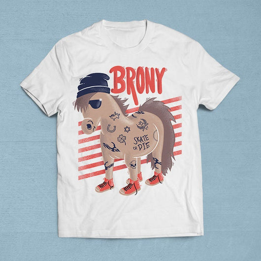 Free Worldwide Shipping - Brony T-Shirt [Gift Idea - Makes A Fun Present] [For Him/For Her] Unisex T-Shirt XS/Small/Medium/Large/XL
