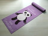 Less Pandamonium, More Savasana Yoga Mat - Cute Panda Yoga Mat  - Practice Yoga In Style [Gift Idea / Fun Present] Exercise Mat