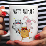 Party Animals Gopher / Bunny / Raccoon  - Funny Dancing Animals Mug [Gift Idea - Makes A Fun Present] [For Him / For Her]