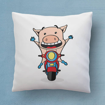Cute Pig Pillow - The Perfect Bedroom Pillow For Pig Lovers - Cute Decorative Pillow 18x18 inches