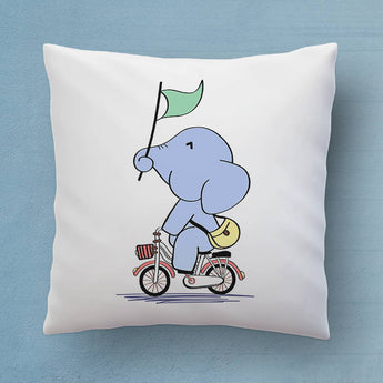 Cute Elephant Pillow - The Perfect Bedroom Pillow For Elephant Lovers - Cute Decorative Pillow 18x18 inches