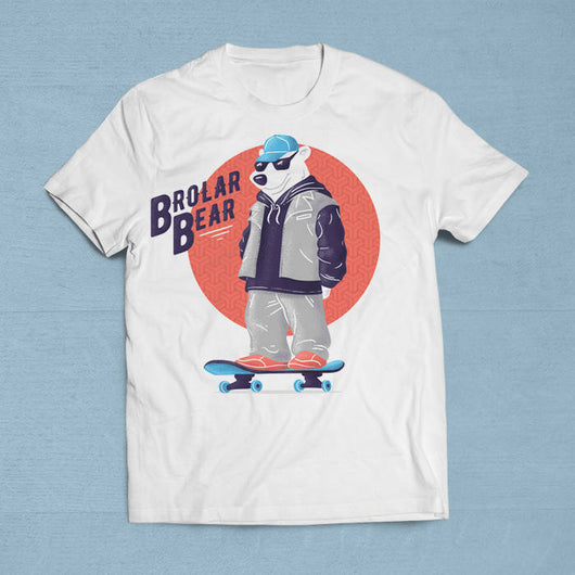 Free Shipping Worldwide - Brolar Bear T-Shirt [Gift Idea - Makes A Fun Present] [For Him/For Her] Unisex T-Shirt XS/Small/Medium/Large/XL