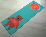 Free Shipping Worldwide -  Green Beary Zen Yoga Mat - Cute Bear Yoga Mat  - Practice Yoga In Style [Gift Idea / Fun Present] Exercise Mat