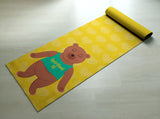 Free Shipping Worldwide - Yellow Spiritual AF  - Cute Bear Yoga Mat  - Practice Yoga In Style [Gift Idea / Fun Present] Exercise Mat