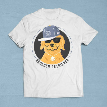 Brolden Retriever Bro Tshirt Gift Idea - Makes A Fun Present] [For Him/For Her] Unisex T-Shirt XS/Small/Medium/Large/XL