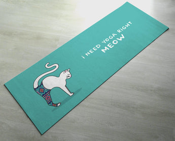 I Need Yoga Right Meow - Practice Yoga In Style [Gift Idea / Fun Present] Exercise Mat / Marjaiasana Yoga