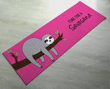 Time For A Savasna Sloth Yoga Mat - Cute Sloth Yoga Mat  - Practice Yoga In Style [Gift Idea / Fun Present] Exercise Mat