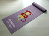 Bananas For Yoga - Cute Monkey Yoga Mat - Practice Yoga In Style [Gift Idea / Fun Present] Exercise Mat / Monkey Gift / Purple Yoga Mat