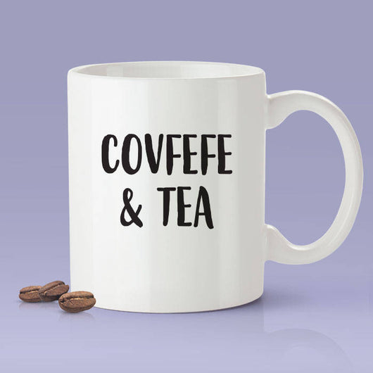 Free Shipping Worldwide  - Covfefe & Tea - Trump Twitter Joke Mug [Gift Idea - Makes A Fun Present] [For Him / For Her]