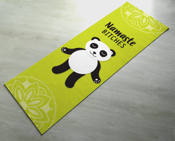 Panda Namaste Bitches Yoga Mat - Cute Panda Yoga Mat  - Practice Yoga In Style [Gift Idea / Fun Present] Exercise Mat
