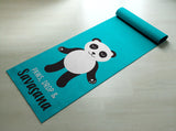 Free Shipping Worldwide - Paws, Drop & Savasana Panda Yoga Mat - Cute Panda Yoga Mat  - Practice Yoga In Style [Gift Idea / Fun Present]