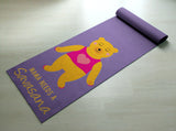 Purple Mama Needs A Savasana - Cute Bear Yoga Mat  - Practice Yoga In Style [Gift Idea / Fun Present] Exercise Mat