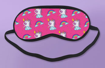Cute Pink & Rainbow Unicorn Sleeping Mask [Gift Idea / Fun Present] Eyeshade