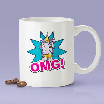 Free Shipping Worldwide - OMG - Oh My God Unicorn Coffee Mug -  Cute Gift Idea For Unicorn Lovers