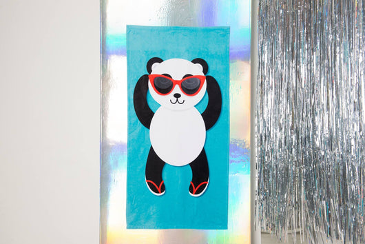 "Panda Beach Towel [Blue / Yellow / Green] -  Cute PandaTowel  - Hit The Beach In Style [Gift Idea / Fun Present] Panda Gifts 30""x60"""