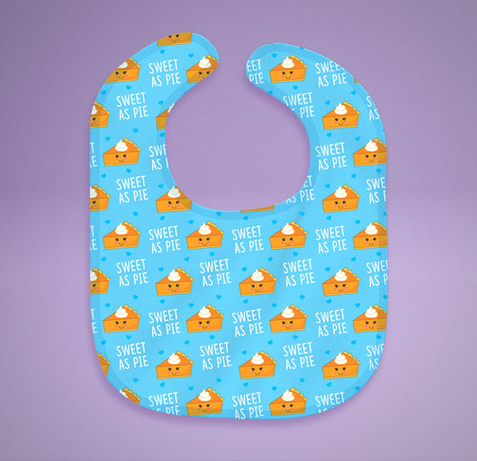 Free Shipping! Sweet As Pie Baby Bib - Cotton Baby Bib [Gift Idea / Fun Present] Pumpkin Pie Baby Gifts
