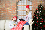 Holiday Print Cozy Blanket - Fleece Blanket - Warm Wishes  - [Small / Medium / Large]