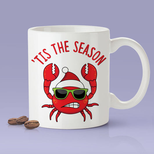 Tis The Season Crab Mug -  Christmas Mug / Christmas Gifts / The Perfect Holiday Present