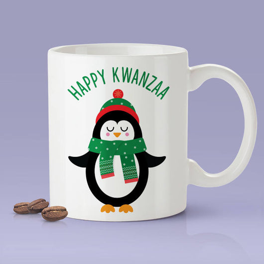 Happy Kwanza Mug -  Kwanza Penguin Mug / Holiday Gifts / The Perfect Holiday Present