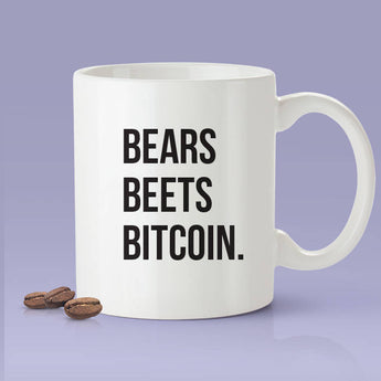Bears Beets Bitcoin Mug - Crypto Mug - Funny Bitcoin Mug - The Office Bitcoin Parody