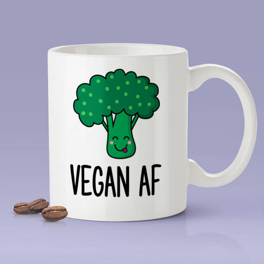 Vegan As Fuck Mug - Funny Vegan AF Coffee Mug - Vegan Gifts - Broccoli Lover Mug