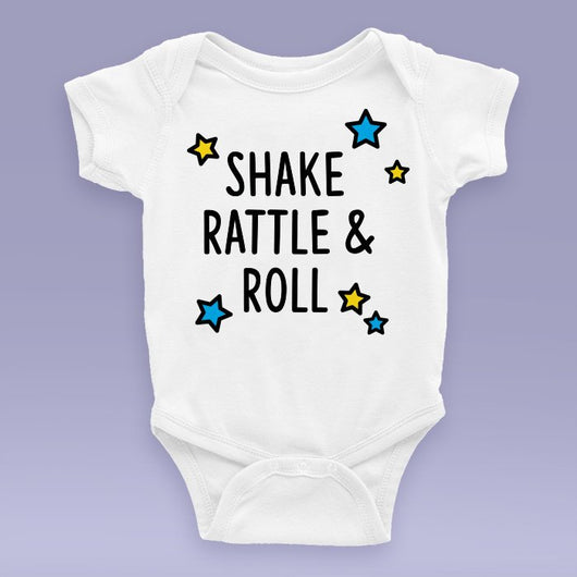 Shake Rattle And Roll Onesie / Bodysuit - Elvis Themed Baby Gift