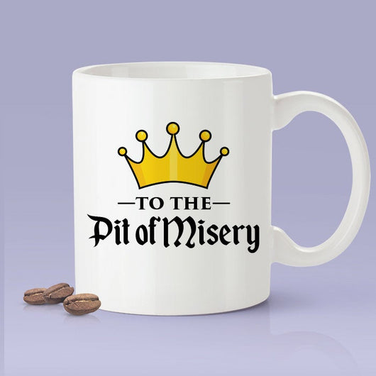 To The Pit Of Misery Mug - Budweiser Commercial Inspired Coffee Mug - Beer Cheers Mug Crown