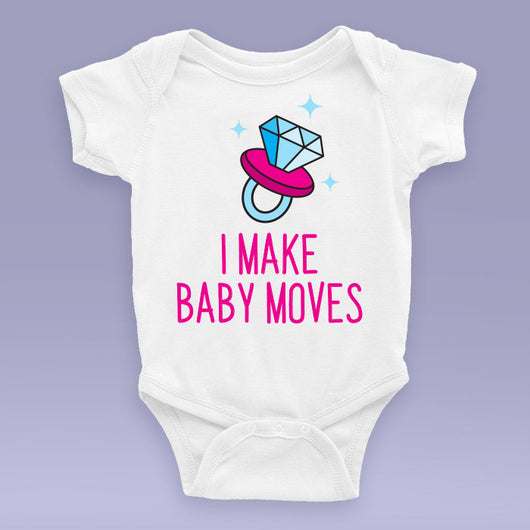 I Make Baby Moves (I Make Money Moves Parody) - Cardi B Baby Onesie / Bodysuit