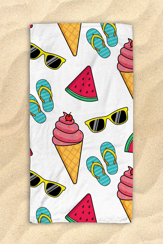 "Free Shipping Worldwide - Summer Themed Beach Towel -  Cute Watermelon Towel  - Hit The Beach In Style / Pool Party Gifts 30""x60"""