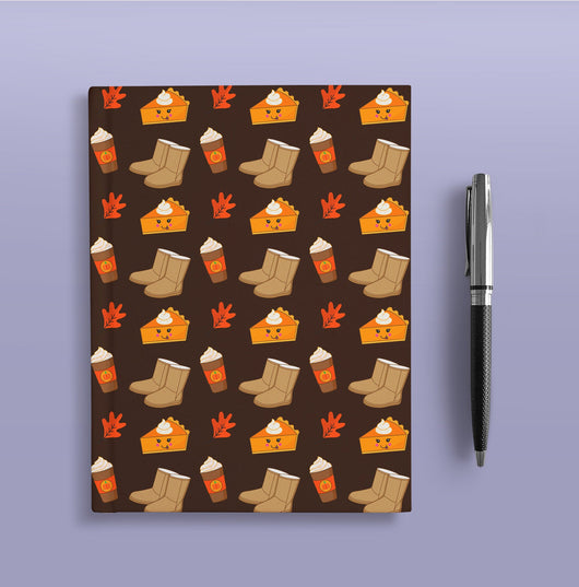 Basic Bitch  Journal - Pumpkin Pie Fall Journal - Hardcover Journal - Cute Dream Journal - Blank Lined Notebook - Fall Gifts