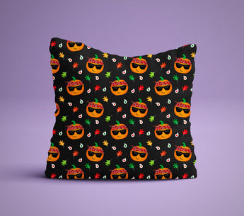Thug Pumpkin Pillow - Perfect For Pumpkin Spice  Lovers - Cute Decorative Pillow 18x18 inches
