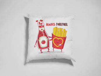 Ketchup & Fries Decorative Pillow - Cute Love Pillow