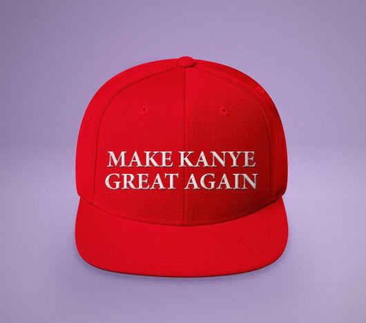 Make Kanye Great Again - Red MAGA Parody Hat - Kanye West Inspired Red Presidential Hat