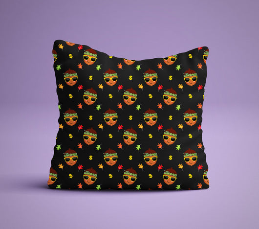 Thug Acorn Pillow- Fall Decor Pillow - Perfect For Pumpkin Spice  Lovers - Cute Decorative Pillow 18x18 inches